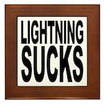 Lightning Sucks Framed Tile