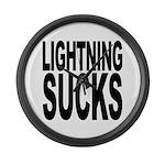 Lightning Sucks Large Wall Clock