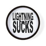 Lightning Sucks Wall Clock