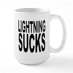 Lightning Sucks Large Mug