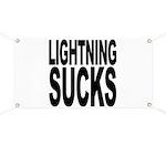 Lightning Sucks Banner