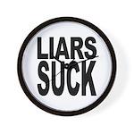 Liars Suck Wall Clock