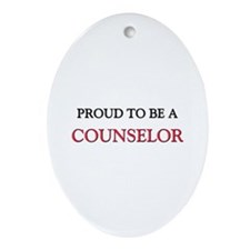 Proud to be a Counselor Oval Ornament