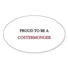 Proud to be a Costermonger Oval Sticker