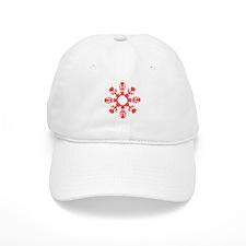 Flower Pot Snowflake Baseball Cap