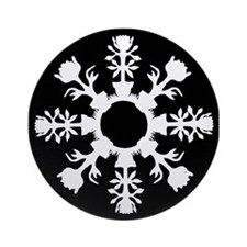 Flower Pot Snowflake Ornament (Round)