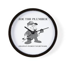 JOE THE PLUMBER NIGHTMARE Wall Clock