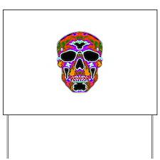 Psychedelic Skull Yard Sign