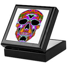 Psychedelic Skull Keepsake Box