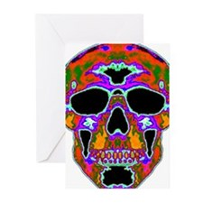 Psychedelic Skull Greeting Cards (Pk of 20)