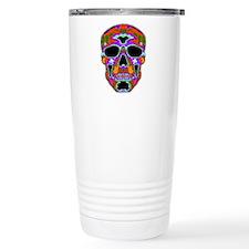 Psychedelic Skull Travel Mug