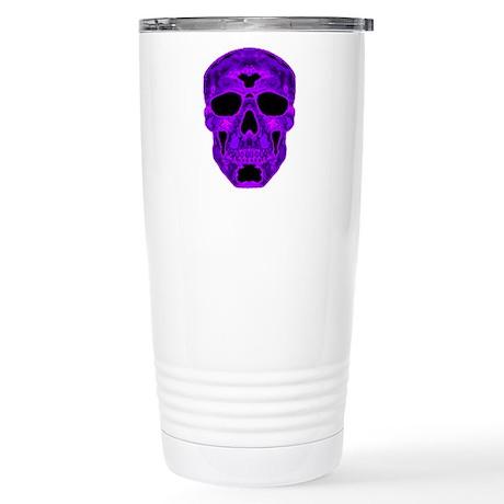 Purple Skull Stainless Steel Travel Mug