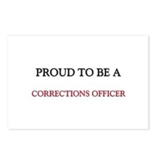 Proud to be a Corrections Officer Postcards (Packa