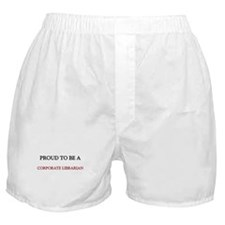 Proud to be a Corporate Librarian Boxer Shorts