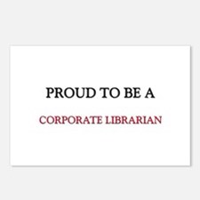 Proud to be a Corporate Librarian Postcards (Packa