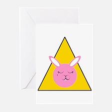 Caution Sleepy Bunny Greeting Cards (Pk of 20)