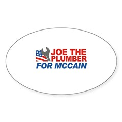 Joe the Plumber for McCain Oval Decal