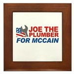 Joe the Plumber for McCain Framed Tile