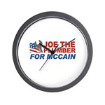Joe the Plumber for McCain Wall Clock