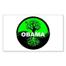 Go Green Obama Rectangle Decal