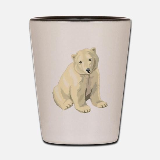 Cute White Polar Bear Shot Glass