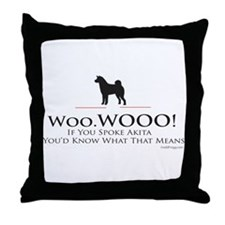 oddFrogg Akita Throw Pillow