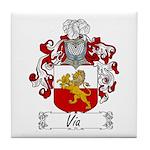 Via Family Crest Tile Coaster