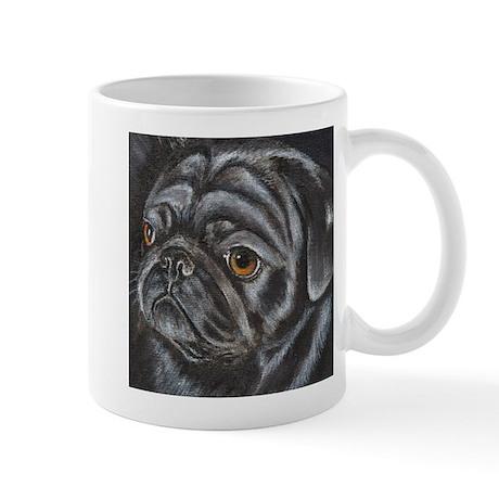 Black Pug Mug