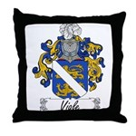 Viale Family Crest Throw Pillow