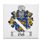 Viale Family Crest Tile Coaster
