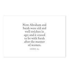 GENESIS  18:11 Postcards (Package of 8)