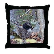 Male Partridge Throw Pillow