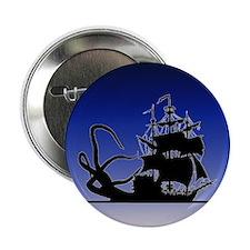 """Pirate ship and Kraken 2.25"""" Button"""