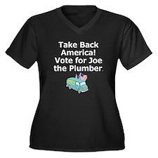 Take Back Am Women's Plus Size V-Neck Dark T-Shirt