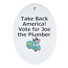 Take Back America Ornament (Oval)