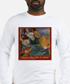 Red Frame Walking on Water Long Sleeve T-Shirt