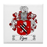 Vigna Family Crest Tile Coaster