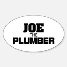 Joe the Plumber Sticker (Oval)