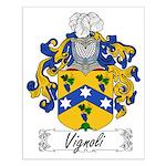 Vignoli Family Crest Small Poster