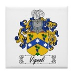 Vignoli Family Crest Tile Coaster