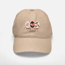 Peace Love Justice Judge Baseball Baseball Cap