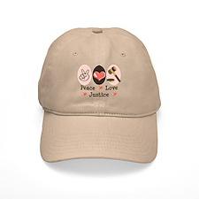 Peace Love Justice Judge Baseball Cap