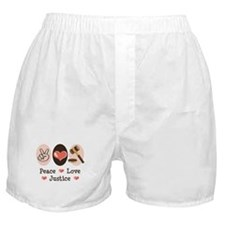Peace Love Justice Judge Boxer Shorts