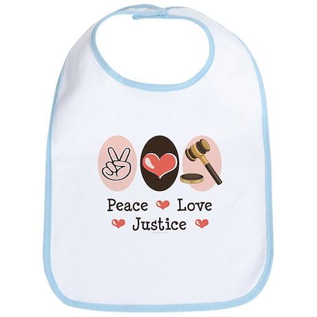 Peace Love Justice Judge Bib