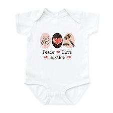 Peace Love Justice Judge Infant Bodysuit