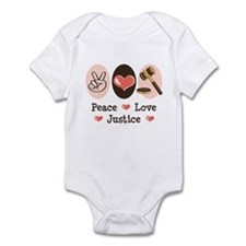 Peace Love Justice Judge Onesie