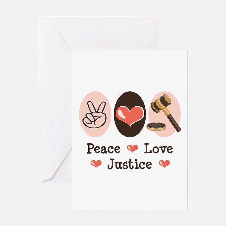 Peace Love Justice Judge Greeting Card
