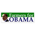 Farmers for Obama bumper sticker