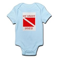 """Daddy Dives"" SCUBA Diving Infant Bodysu"