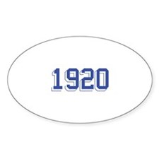 1920 Oval Decal
